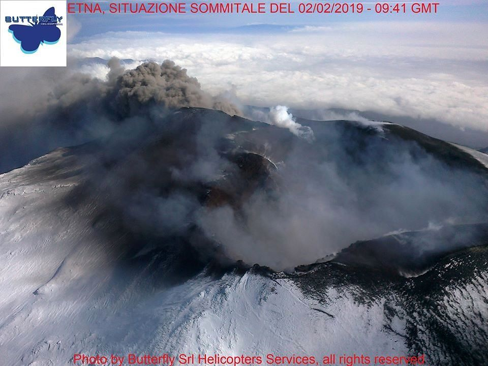 Etna - 02.02.2019 /  9h41 GMT - photo J.Nasi / Butterfly helicopters