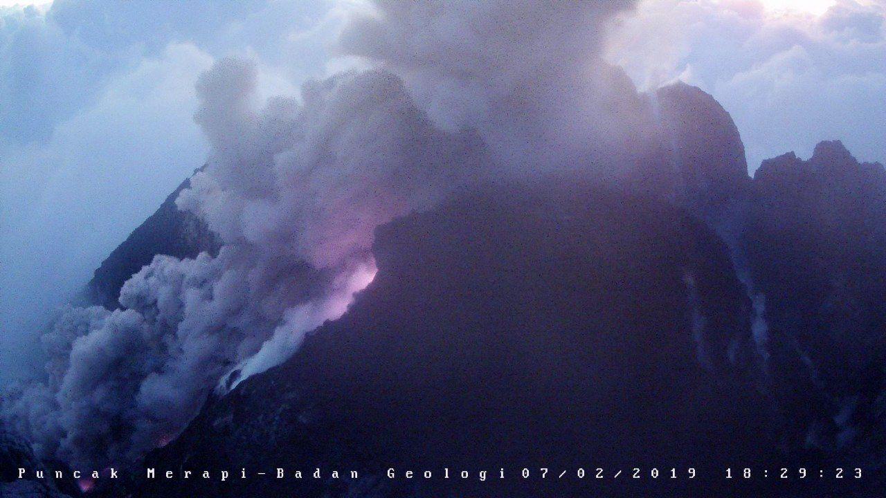 Merapi - 07.02.2019 / 18:29 WIB - Doc. BPPTKG