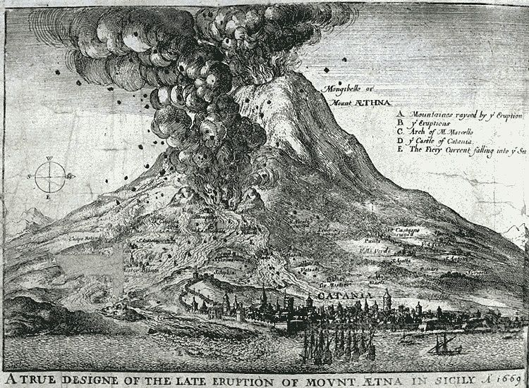 Winchilsea, Heneage Finch 3d earl of (d. 1689). A true and exact relation of the late prodigious earthquake & eruption of mount Aetna, or Mote-Gibello. London Printed by T. Newco