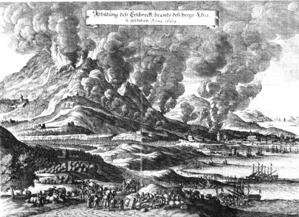 The eruption of 1669 - Doc.Meteoweb
