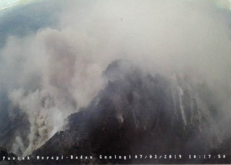 Merapi - dome and pyroclastic flow 07.03.2019 / 10h17 - Doc.BPPTKG