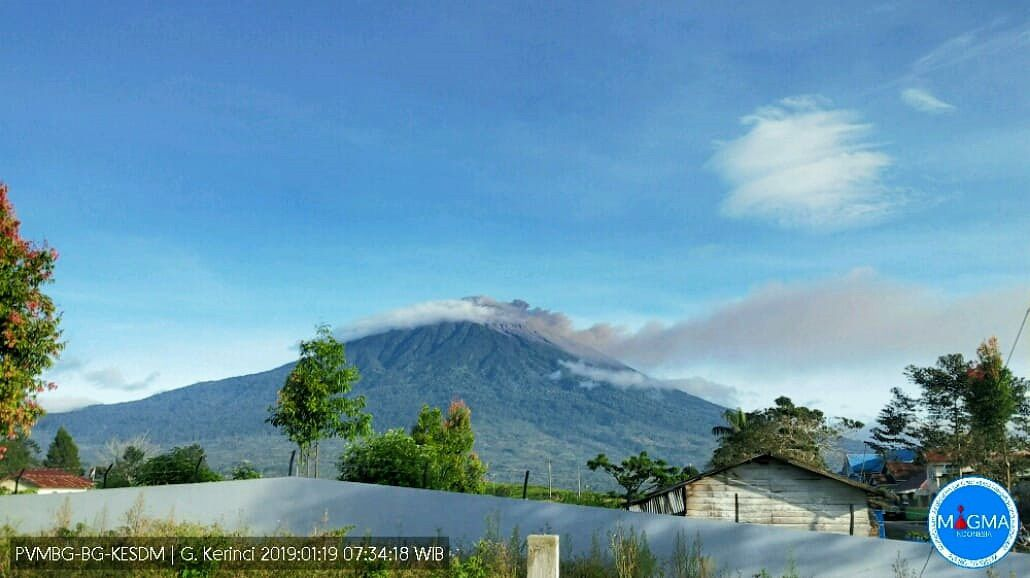 Kerinci - photo archives Magma Indonesia 19.01.2019 /  07h34
