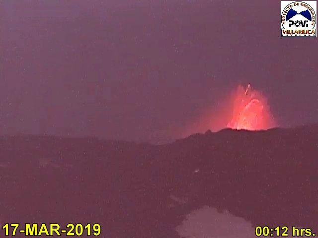 Villarica - strombolianactivity between 19 and 24.03.2019 - POVI webcam