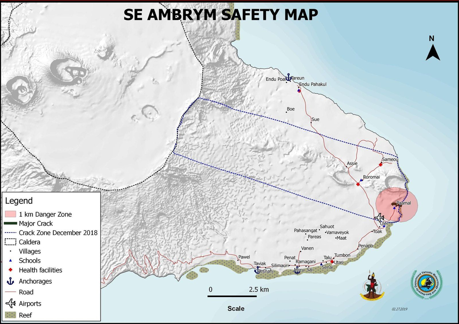 Ambrym - areas of danger and exclusion - Doc. VGO