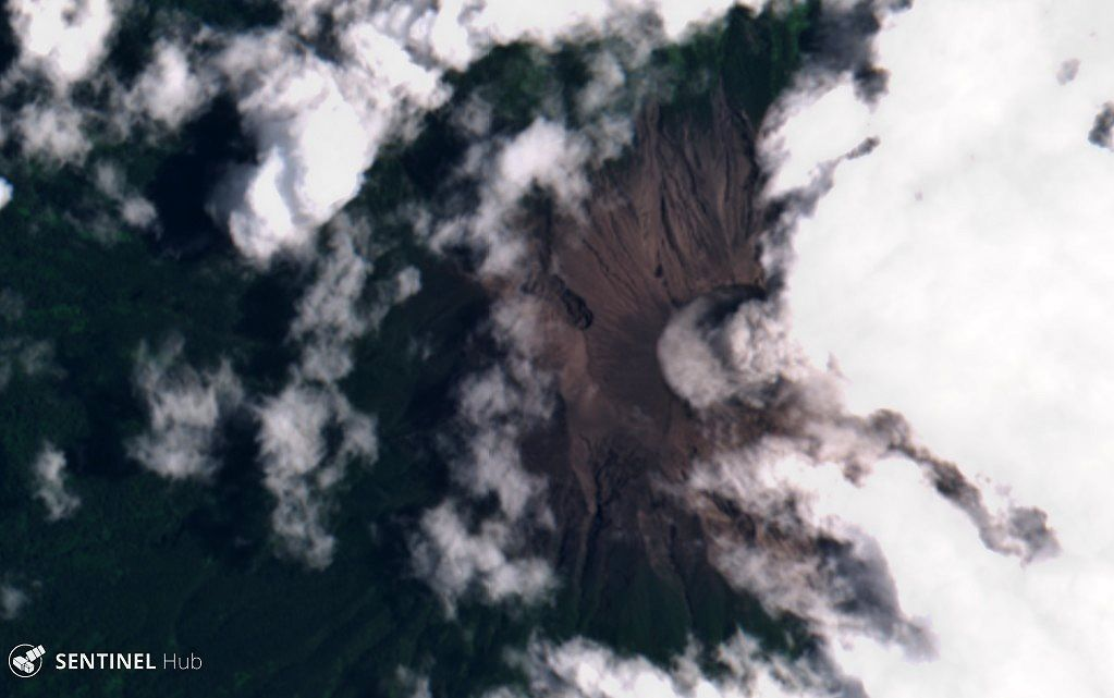 Kerinci - 25.03.2019 - image Sentinel 2 nat.colors
