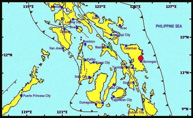 Philippines - séisme sur l'île de Samar - Doc. Phivolcs earthquakes