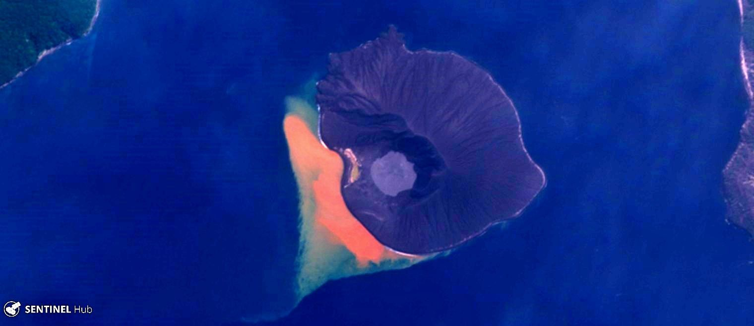 Anak Krakatau - Sentinel picture 2 nat. colors of May 15 - one click to enlarge
