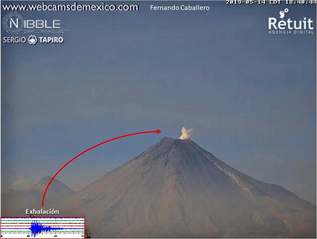 Colima - 14.05.2019 / 18:48 - Doc. Webcams from Mexico / F.Caballero & S.Tapiro / Twitter