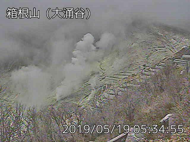 Hakoneyama - activité fumerollienne du 19.05.2019 - webcam JMA