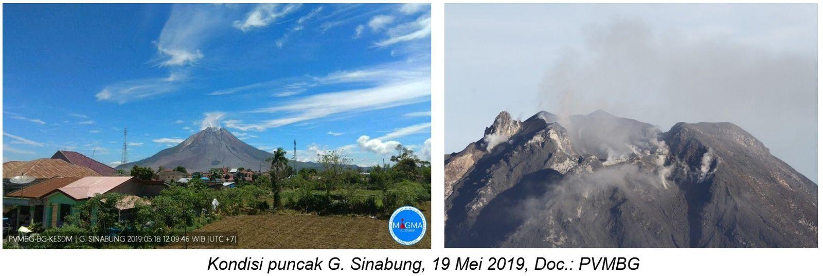 Sinabung - 18.05.2019 / 12h09 WIB  - Doc. PVMBG / Magma Indonesia - un clic pour agrandir