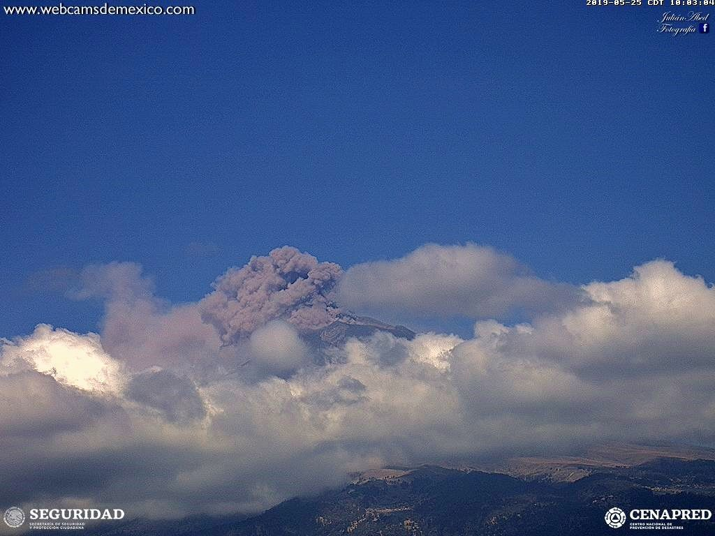 Popocatépetl - 25.05.2019 / 10:03 - webcam Cenapred