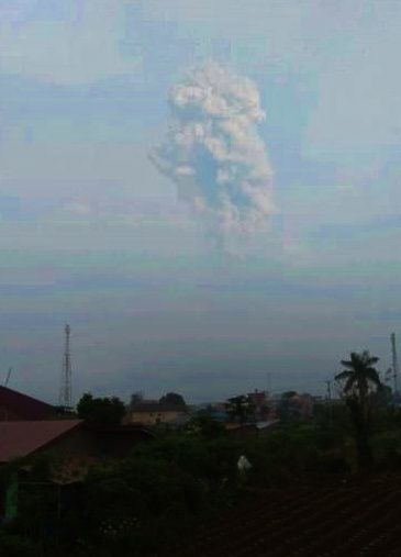 Sinabung - ash plume of 27.05.2019 - Photo Magma Indonesia