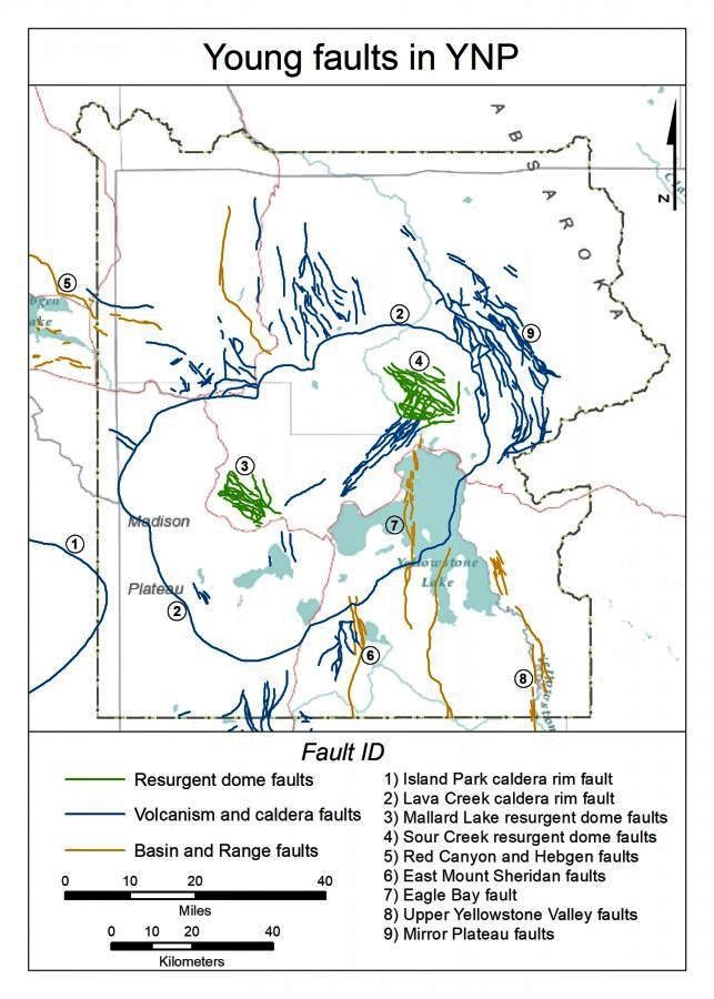 Map of the three types of faults young ds. the YNP - Wyoming state geological survey