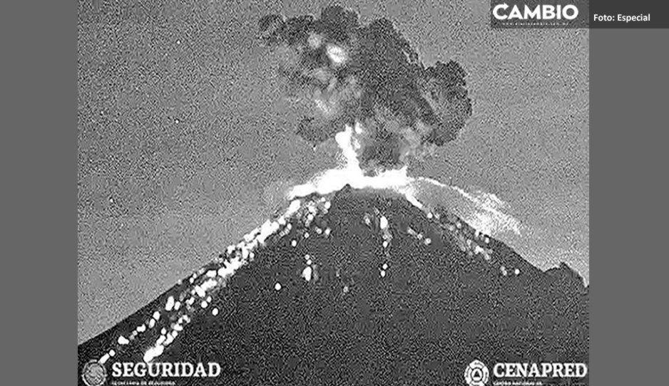 Popocatépetl - 11.06.2019 - Cenapred Webcam / Seguridad
