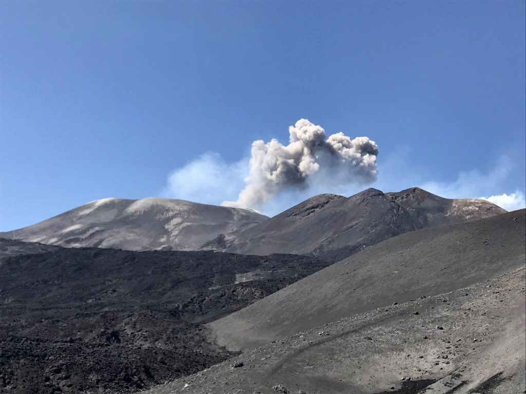 Etna - Voragine - ash emissions on 13.06.2019 - photo Boris Behncke