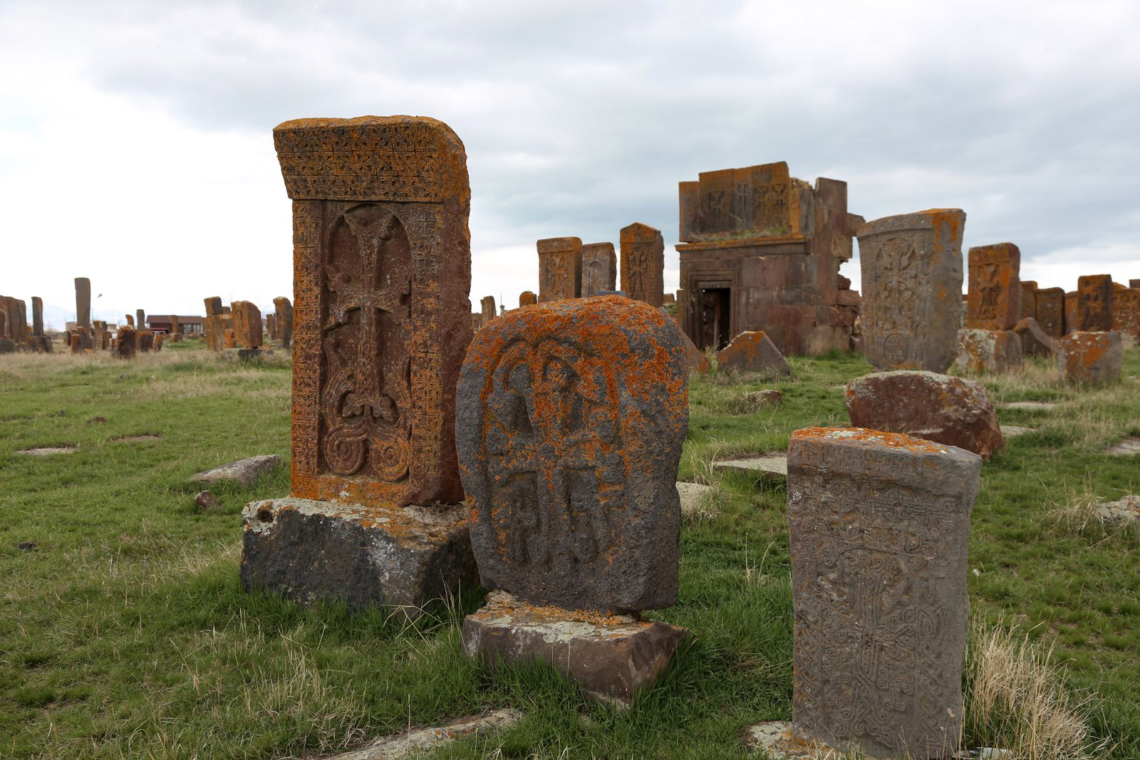 Armenia - Lake Sevan - The khatchkars cemetery of Noradouz - Photo © Bernard Duyck 2019