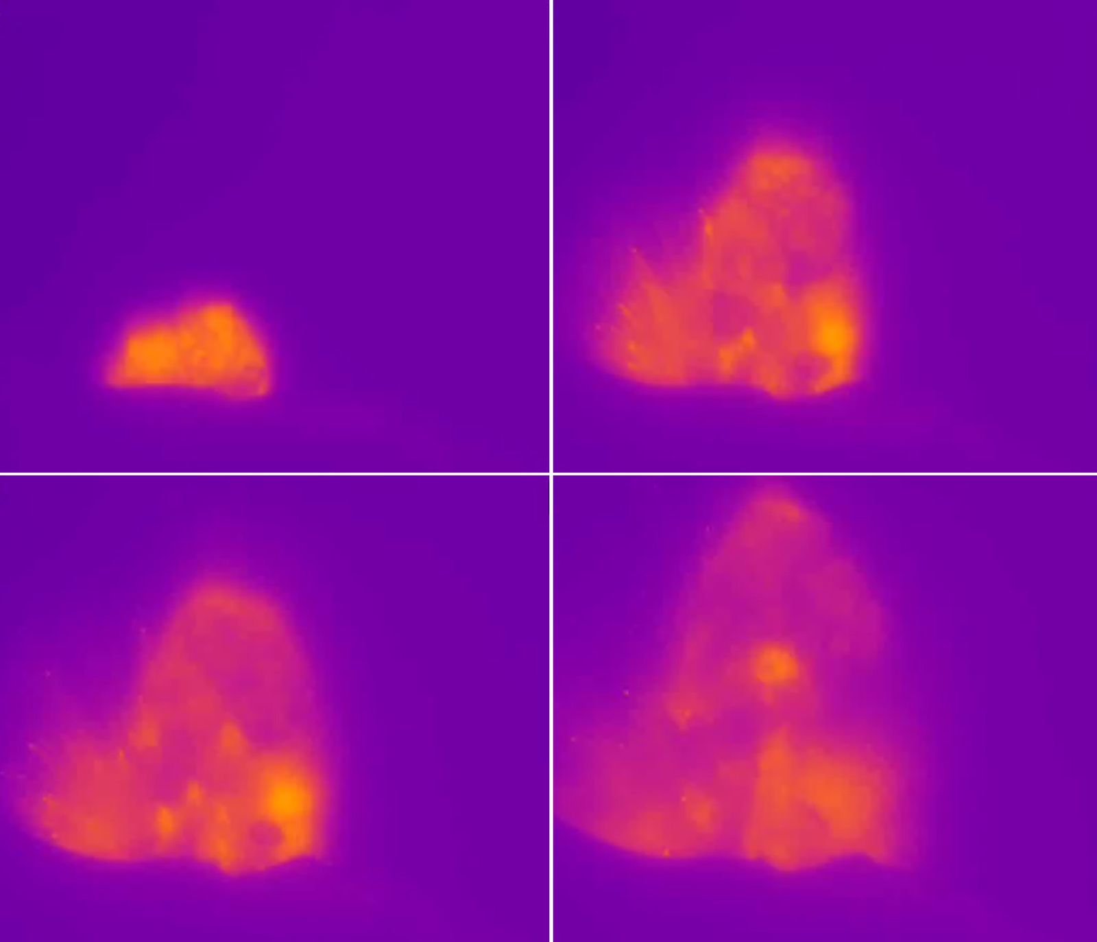 Stromboli - Explosive event of 25.06.2019, taken by the thermal camera of Roccette (ROC)