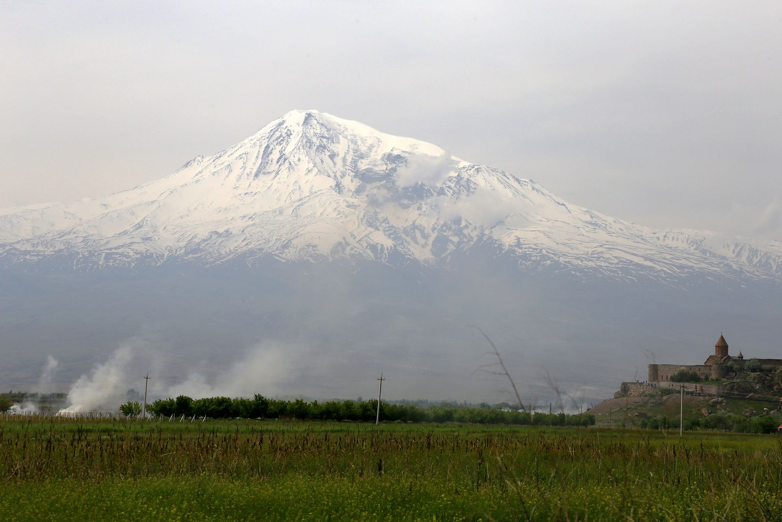 The monastery of Khor Virap and Grand Ararat - photo © Bernard Duyck 2019