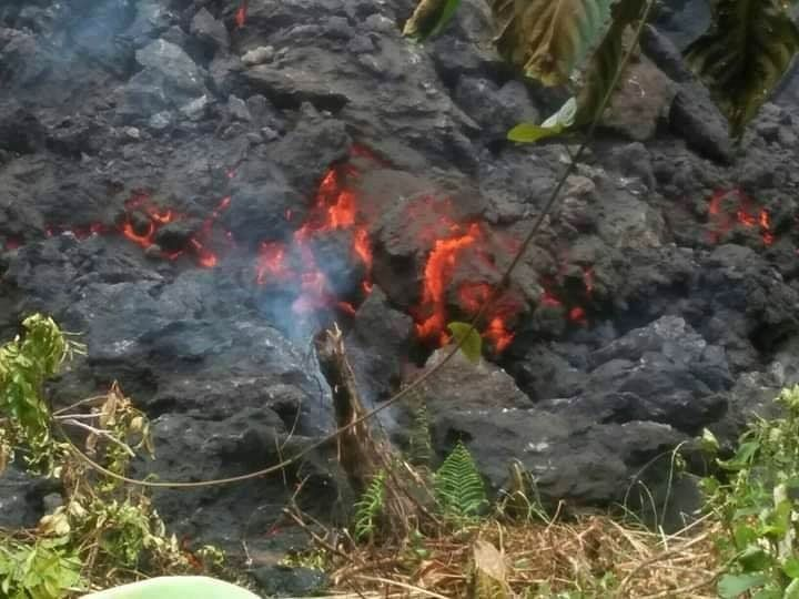 Manam - Active lava flow 02.07.2019 - photo NAUFM