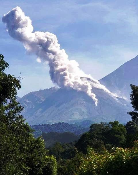 Santiaguito - plume from 02.07.2019 - photo Conred