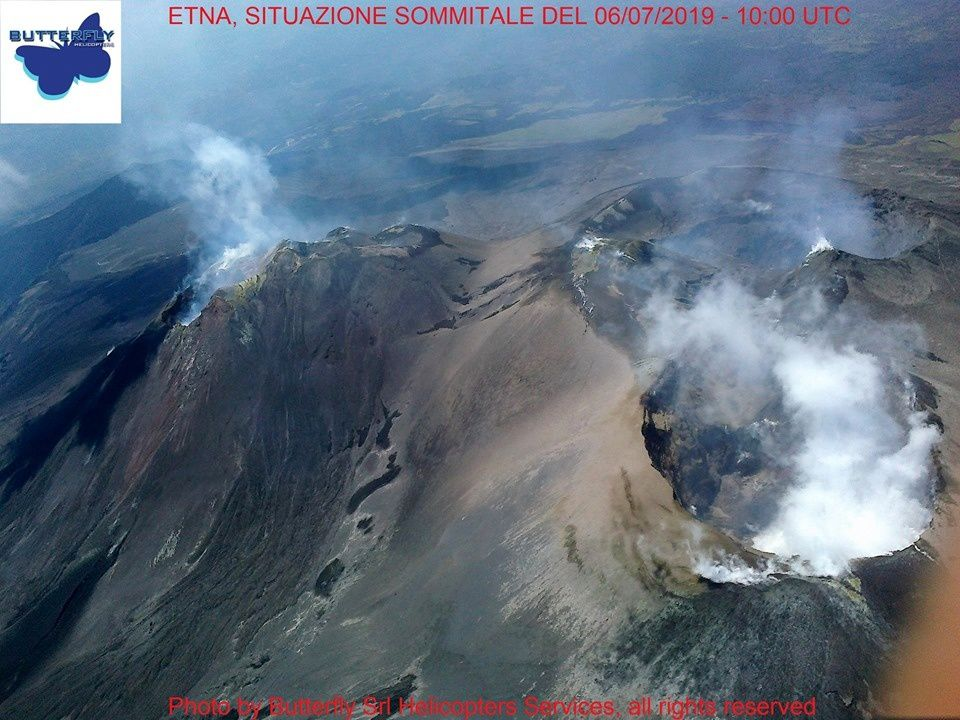 Etna - summit craters 06.07.2019 / 10h UTC - photo J.Nasi / Butterfly helicopters