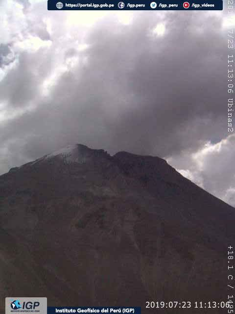 Ubinas - 23.07.2019 / 11h13 - webcam IG Peru
