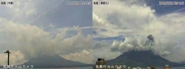 Sakurajima - 24.07.2019 / 15-21h -  Doc. JMA