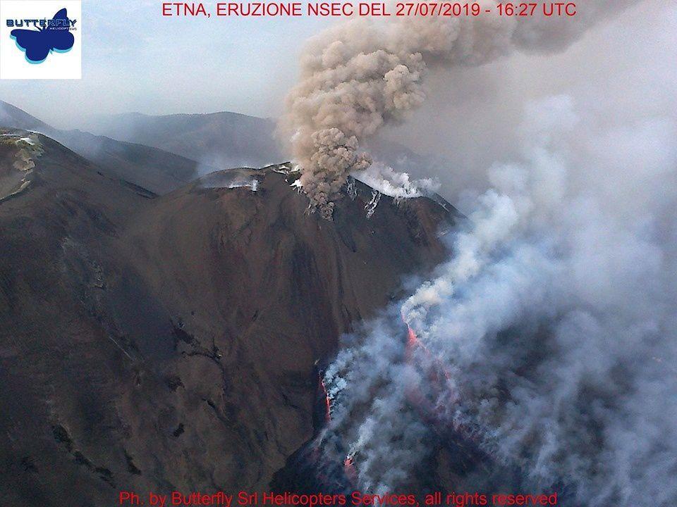 Etna NSEC - photo lors du survol par J.Nasi / Butterfly Helicopters le 27.07.2019 / 16h27