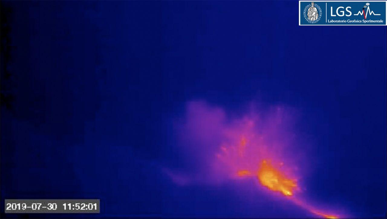 Stromboli - 30.07.2019 / 11j52 - webcam ROC LGS