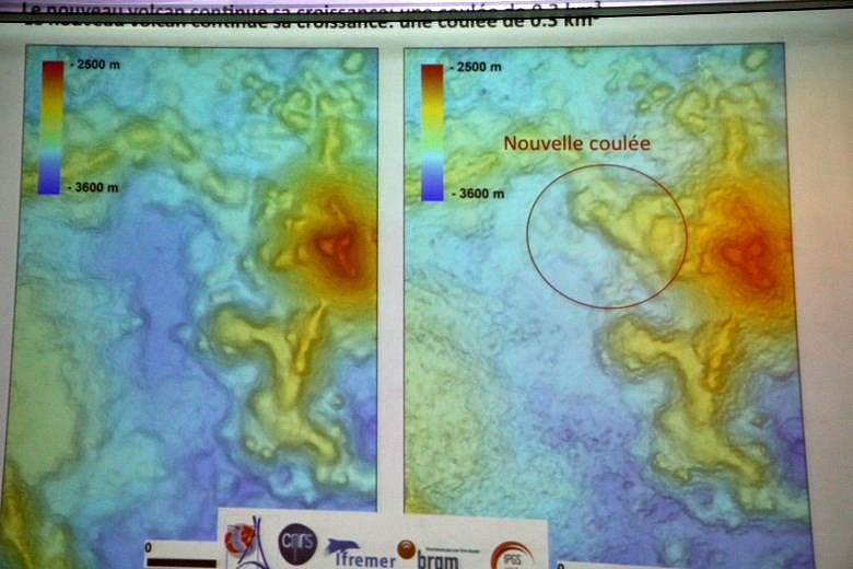 Mayotte - widening of the submarine volcano by a new la flow - Doc. Mayobs 4