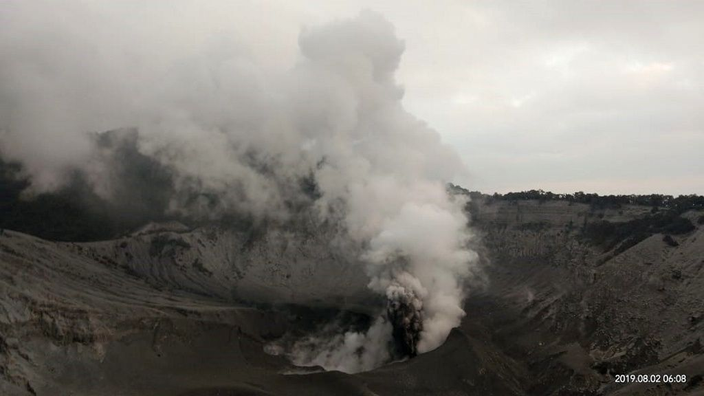 Tangkuban Parahu - activity in progress - photo PVMBG 02.08.2019 / 06h08