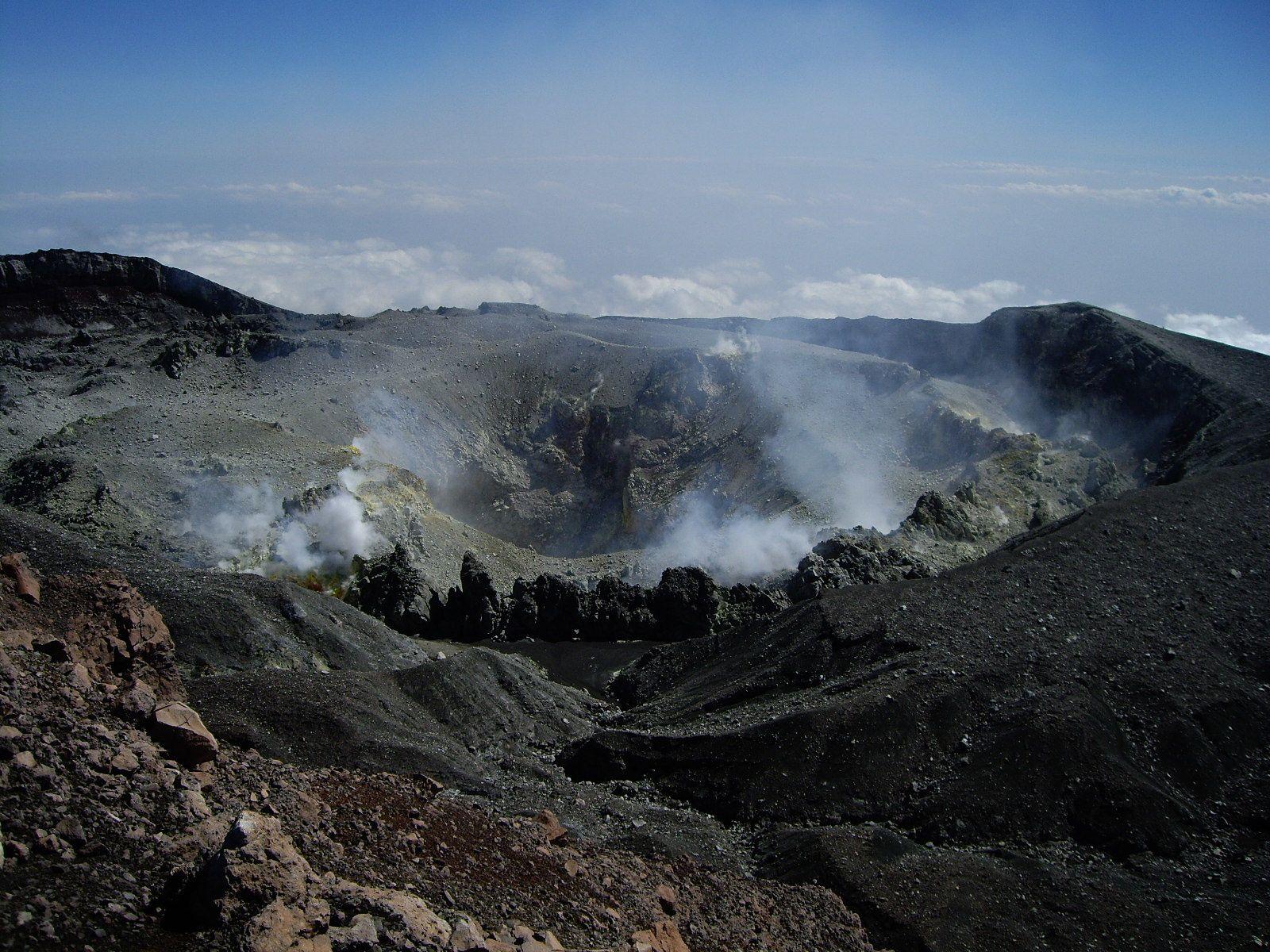 Le cratère du Slamet - photo R.Woodall