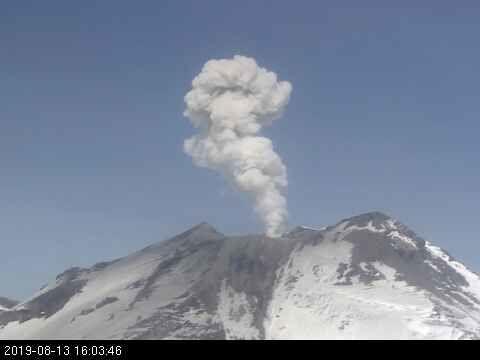 Nevados de Chillan  - 13.08.2019 / 16h03  webcam OVDAS portezuelo