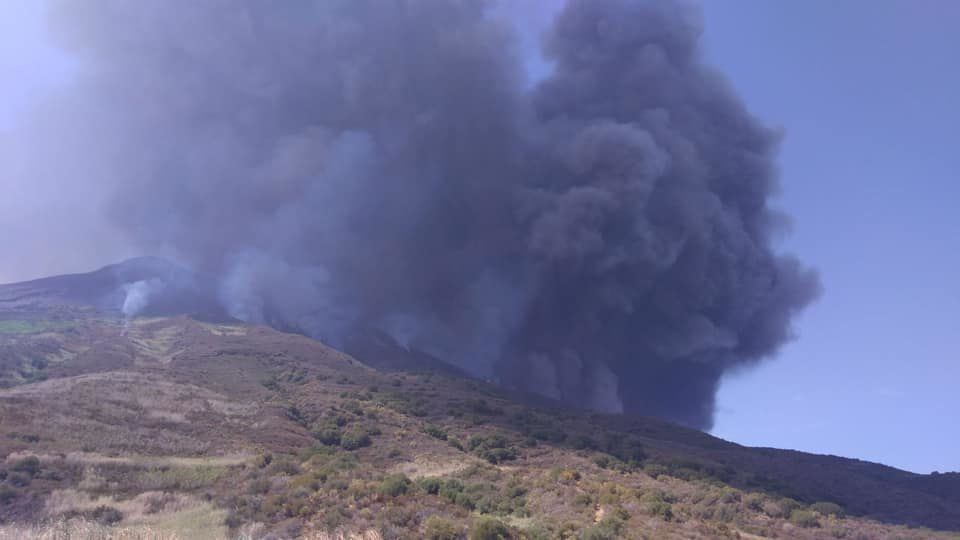 Stromboli - new climax this August 28 at 12:17 local - photos L.G.S.