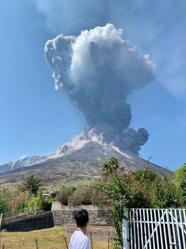 Stromboli - activity from 28.08.2019 - photo Teresa Grillo, Università Roma 3 (press center contact info INGV dell'isola)