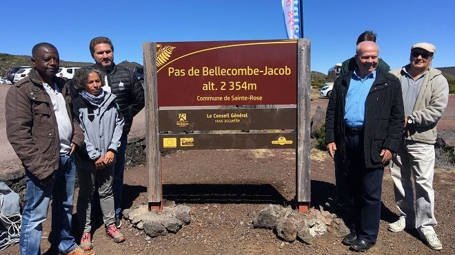 "La Réunion, Piton de La Fournaise - le ""Pas de Bellecombe-Jacob""  - photo France Tv info / L.Pirotte"