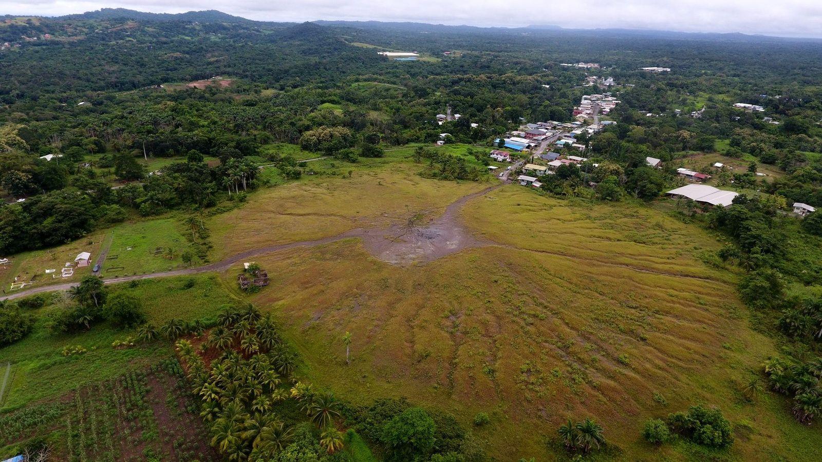 Piparo mud volcano - photo Trindad Guardian