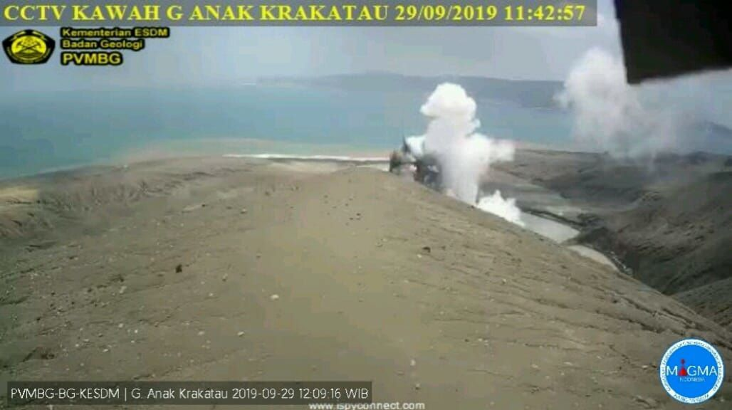 Anak Krakatau - activity from 29.09.2019 / 11h42 - webcam PVMBG