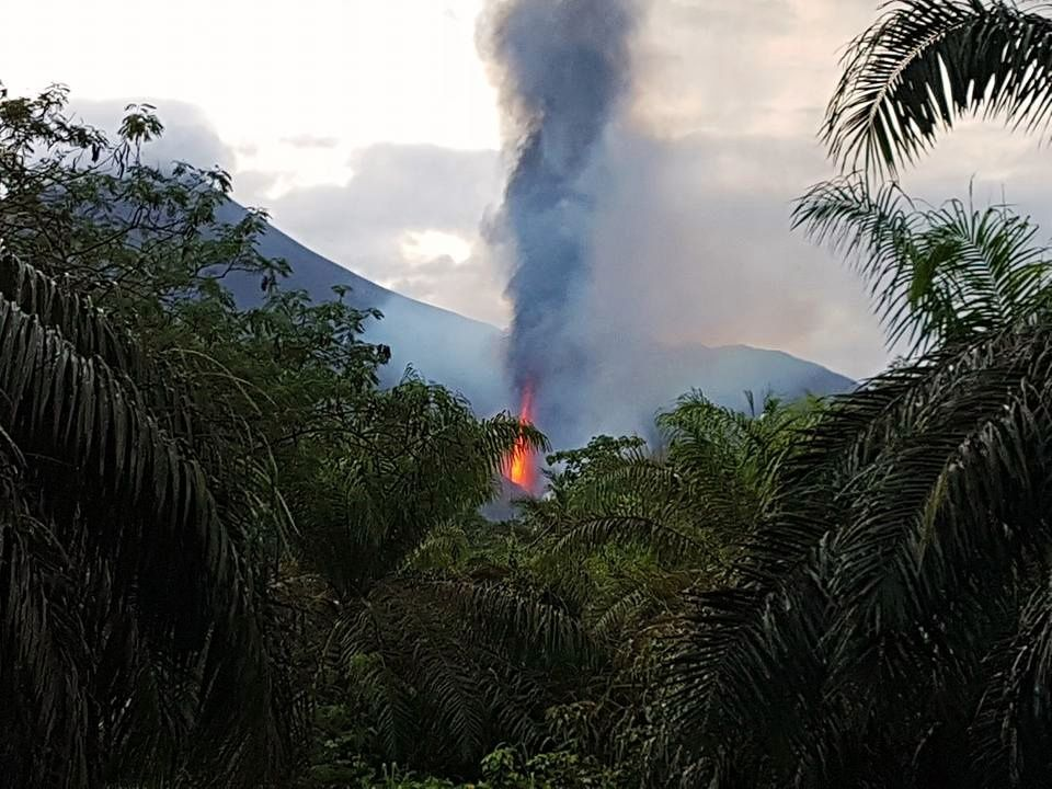 Ulawun -01.10.2019 the eruptive vent is located at the base of the cone - Chris photo. Lagisa / Facebook via Shérine France