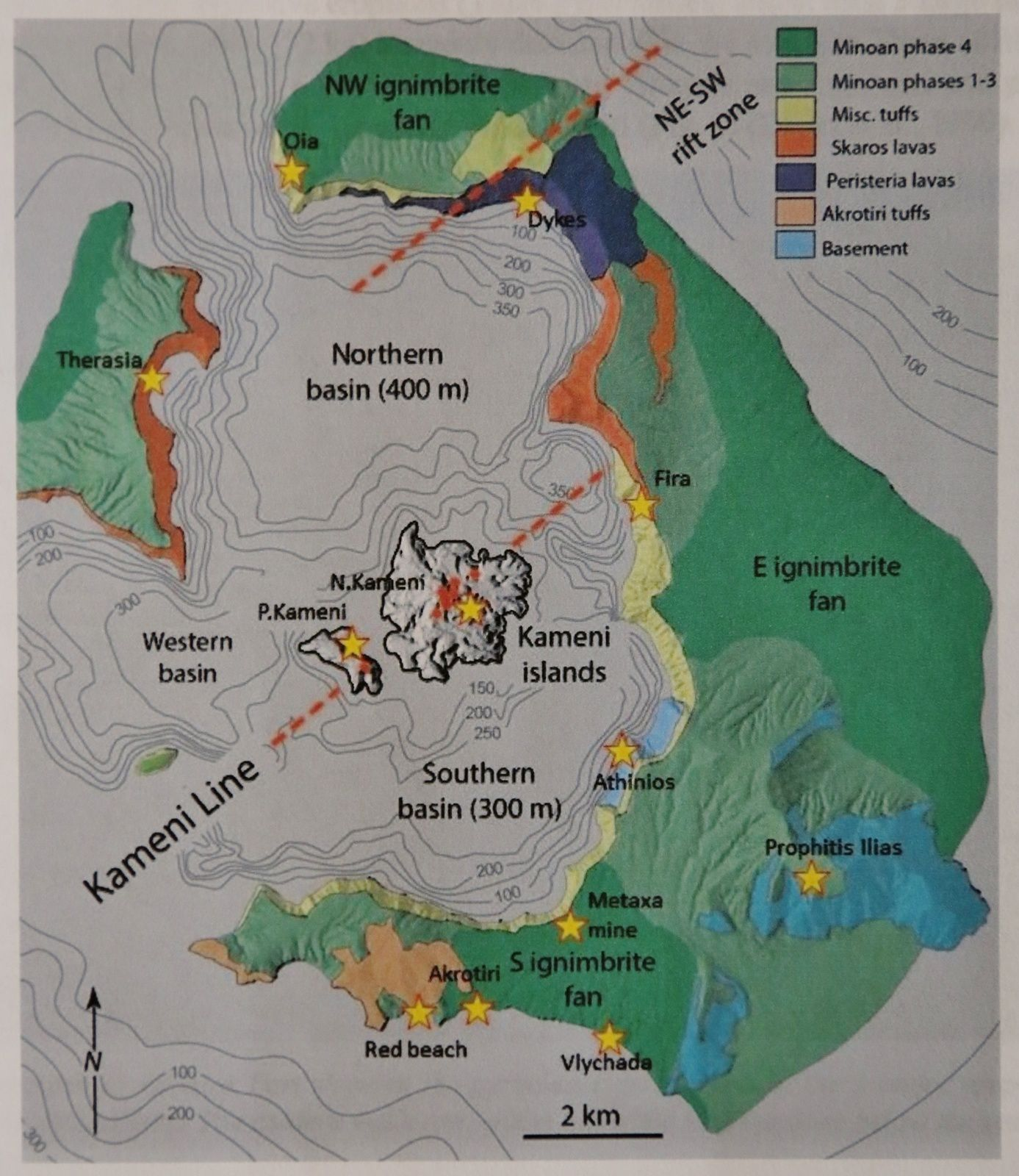 Le complexe volcanique de Santorin - Doc. The morphodynamic evolution of Santorini volcanic complex  - Doc. Nomikou, Vouvalidis, Pavlides 2019