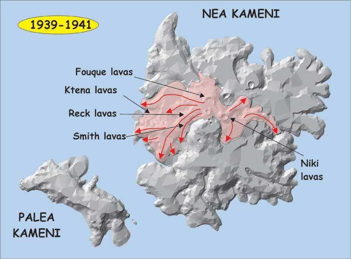 Santorini -Nea Kameni - lava flows of 1939-1941 - Doc. G.E. Vougioukalakis / 2005