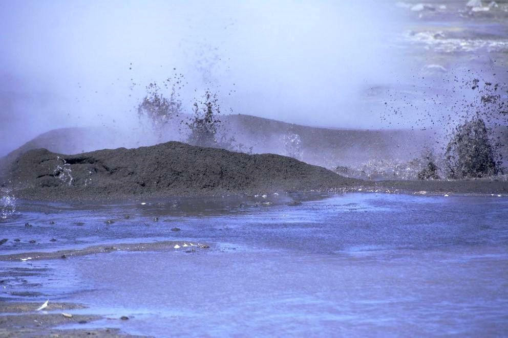 Bogoslof - active muddy vents - photo 10.2019 Maggie Mooney-Seus / NOAA Fisheries via AP