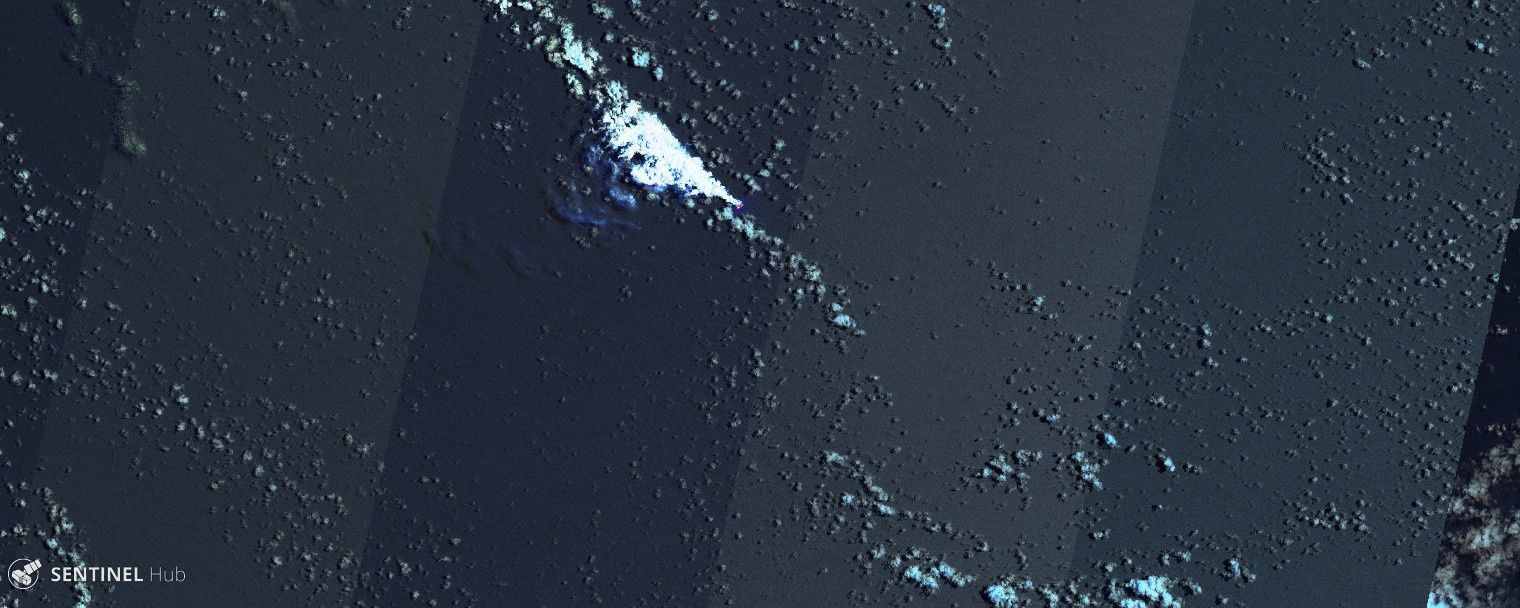 Metis Shoal - images Sentinel-2 L1C image bands 12,11,8A on 20.10.2019 - one click to enlarge