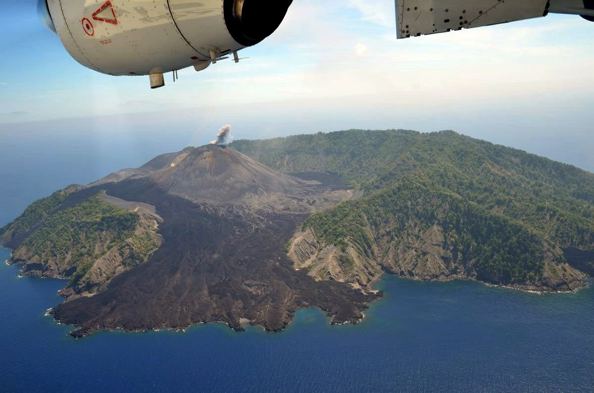 Barren Island - photo archives GVP / 23.02.2017- Courtesy of Jagdish Mukhi, Lt. Governor, Andaman and Nicobar Islands.