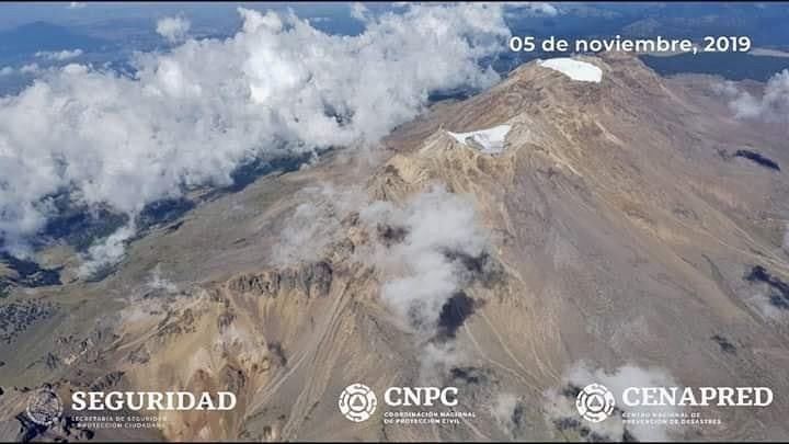 Iztaccíhuatl volcano - no activity noticed during the flight on 05.11.2019 by Cenapred / CNPC / UNAM / Seguridad