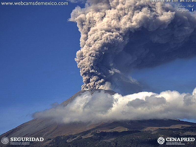Popocatépetl - 09.11.2019 / 09h12 - photo WebcamsdeMexico