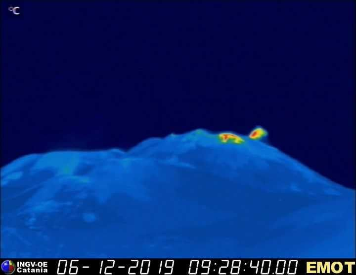 Etna NSEC - 06.12.2019 /  9h28 -  Etna Webcam therm EMOT - INGV OE
