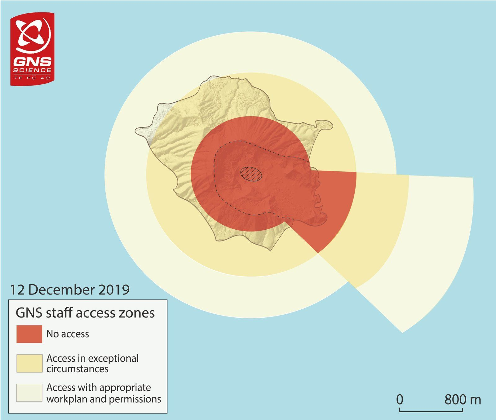 White Island - 12.12.2019 - GNS staff access zones