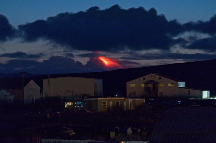 Shishaldin - 12.12.2019 The eruptive activity seen from Cold Bay. Photo courtesy of Aaron Merculief / via AVO