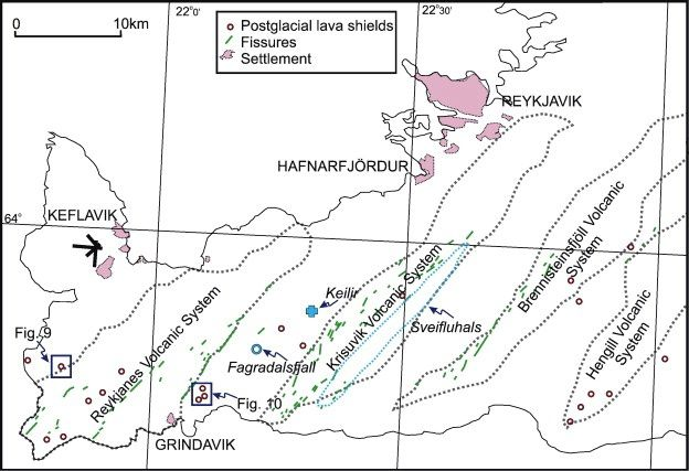 Reykjanes Peninsula - volcanic systems and faults